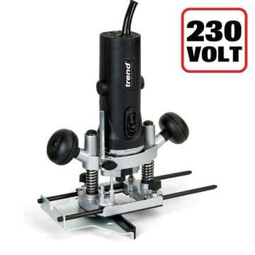 """Trend 850W 1/4"""" Variable Speed Router 230V  - UK sale only"""